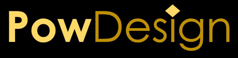 Logo PowDesign : créateur de présentations PowerPoint à la demande